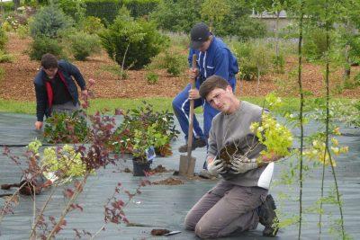 élèves lycée agricole Ste Jeanne d'Arc à Loches